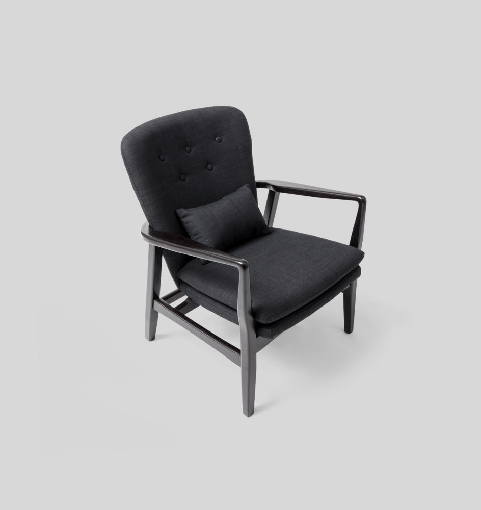 MAX ARMCHAIR - COAL/BLACK FRAME