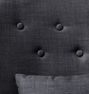 MAX ARMCHAIR - COAL/COAL BUTTONS