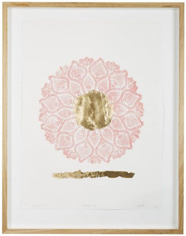 MODERN DAY FINE ART PRINT WITH GOLD LEAF