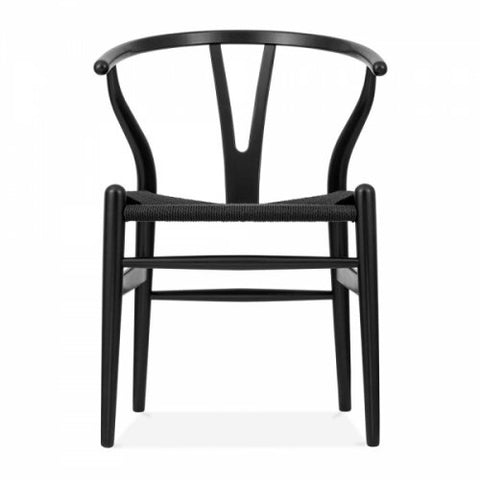 WISH BONE CHAIR - BLACK
