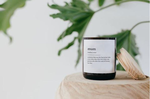 MUM DICTIONARY MEANING SOY CANDLE