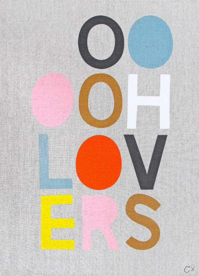OOOOH LOVERS TEA TOWEL