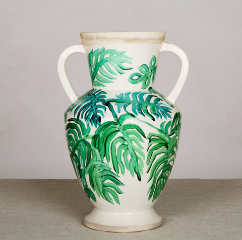 LARGEB VASE - PALMS GREEN