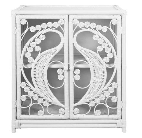 PEACOCK CABINET - WHITE