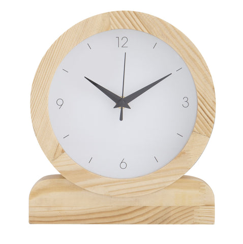 PRESLEY MANTEL CLOCK - NATURAL