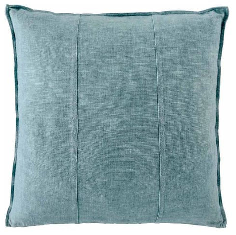 LUCA LINEN SQUARE CUSHION - SEA MIST