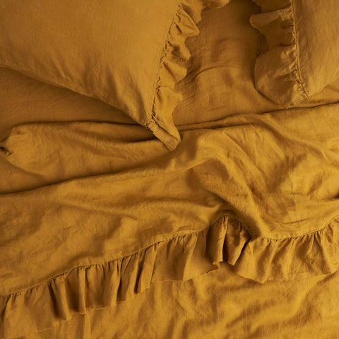 TURMERIC FITTED QUEEN SHEET