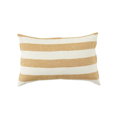 STRIPE LINEN PILLOWCASE SET- TUMERIC