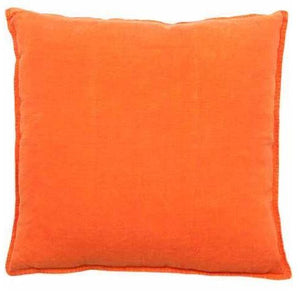 LUCA LINEN LARGE SQUARE CUSHION - ORANGE