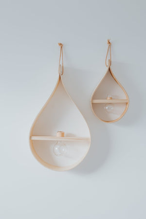 TIMBER TEARDROP SINGLE ROUND VASE