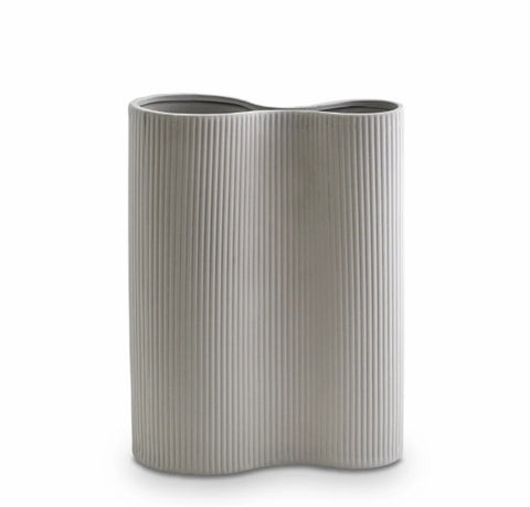 INFINITY VASE M - LIGHT GREY