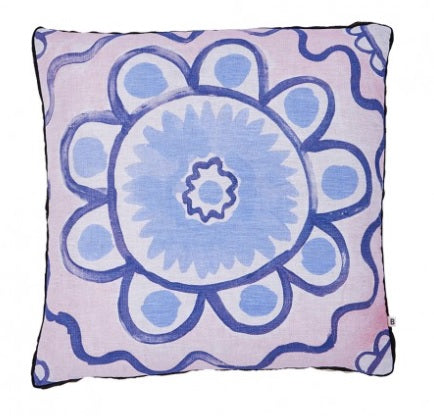 DAISY CUSHION - PINK/BLUE