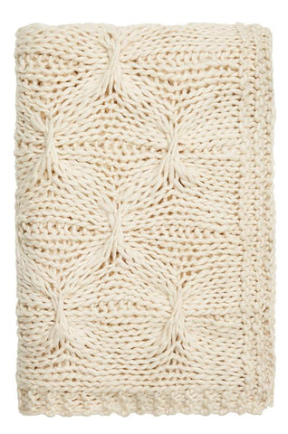 ALKA KNITTED THROW - NATURAL