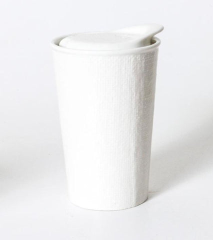 LARGE CERAMIC KEEP CUP - WHITE LINEN