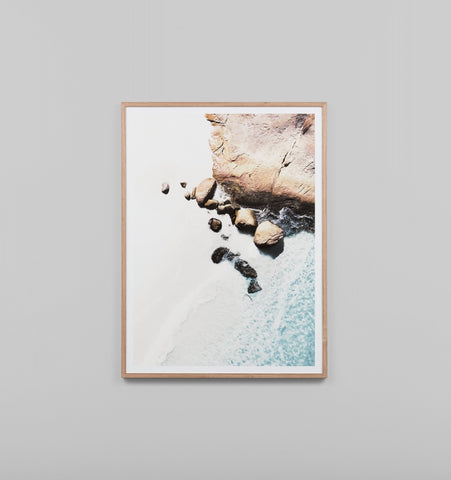 AERIAL COVE FRAMED ARTWORK