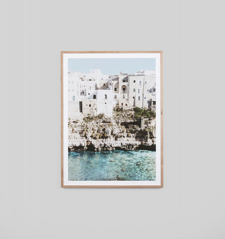 AMALFI VILLAGE FRAMED ARTWORK