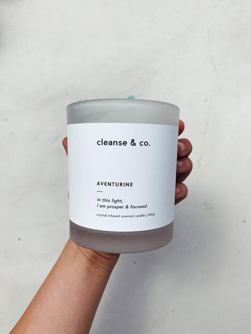 CLEANSE & CO CANDLE - AVENTURINE - WILD LEMONGRASS