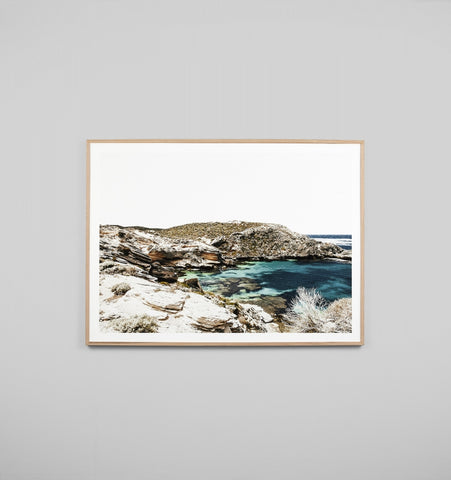 AZURE BAY FRAMED ARTWORK