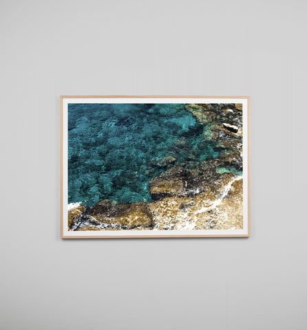 AZURE WATERS FRAMED ARTWORK