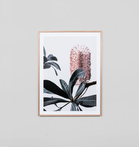 BANKSIA 2 PORTRAIT FRAMED ARTWORK