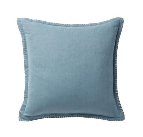 BLUE STEEL BLANKET STITCH CUSHION