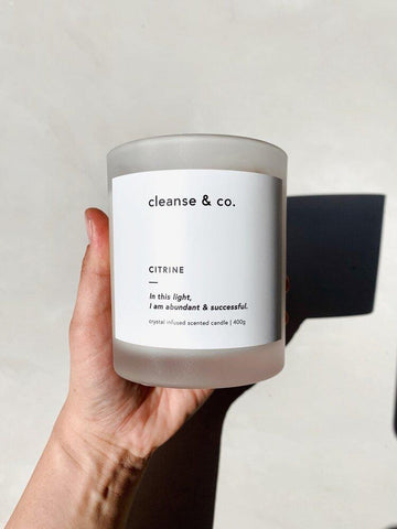 CLEANSE & CO CANDLE - CITRINE - VANILLA & TONKA BEAN