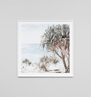 COASTAL PALMS FRAMED ARTWORK