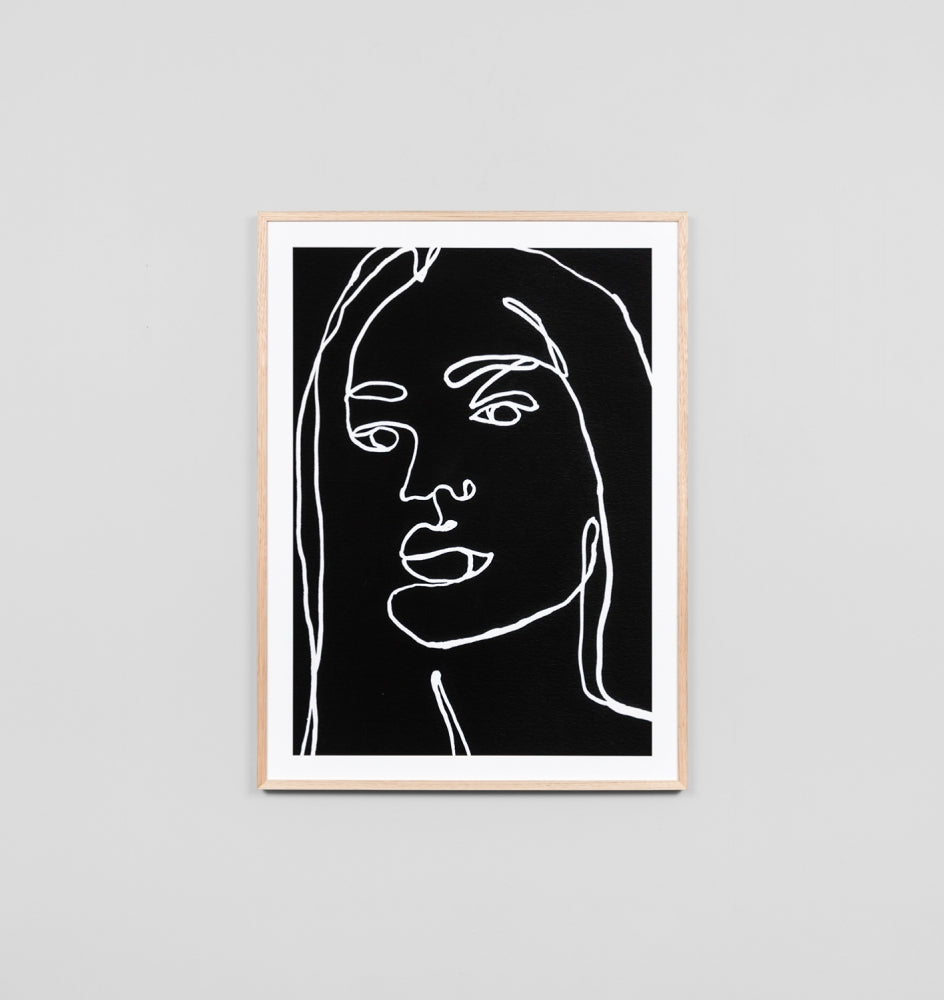 CONTOUR PORTRAIT NIGHT #2 FRAMED ARTWORK