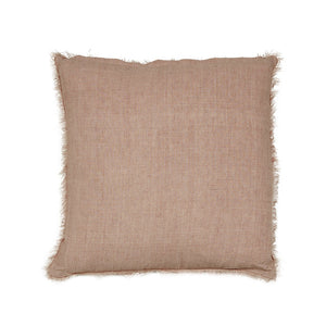 EVIE LINEN SQUARE CUSHION - BLUSH