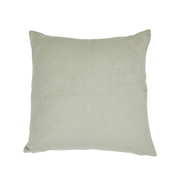 EVIE VELVET CUSHION 48CM - GREEN LILY