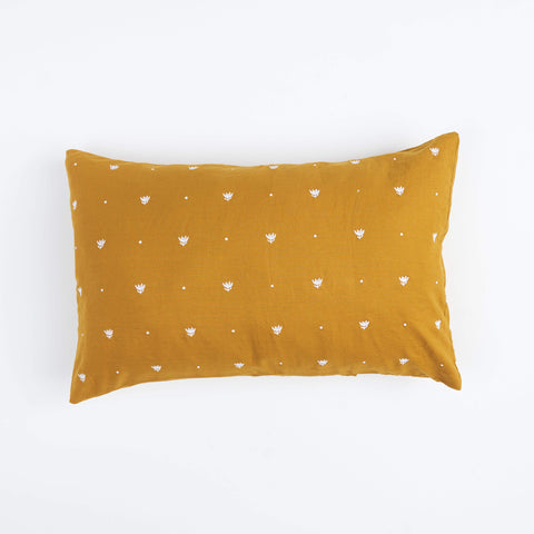 EMBROIDERED TUMERIC PILLOWCASE SET