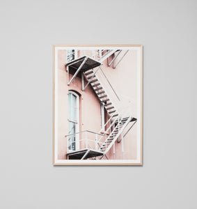 FIRE ESCAPE FRAMED ARTWORK
