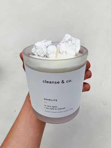 CLEANSE & CO CANDLE - HOWLITE - COCONUT LIME