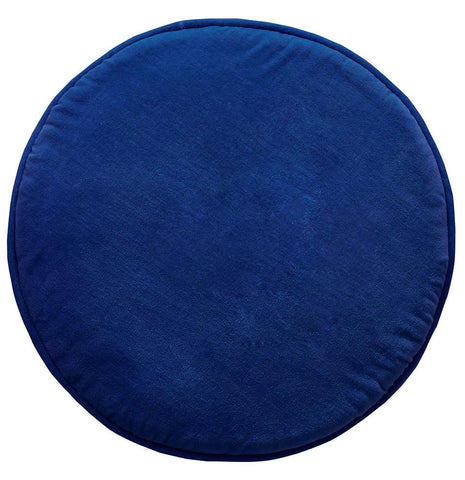 CASTLE -  BLUE VELVET ROUNDIE COVER + CUSHION