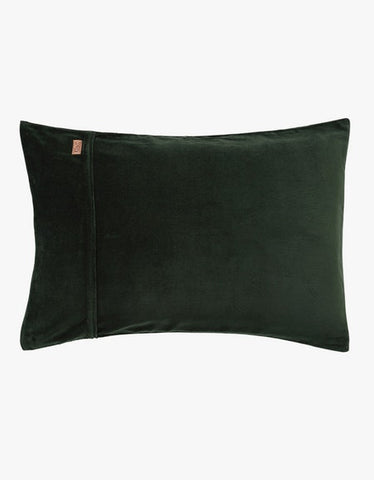 KIP & CO - KOMBO GREEN VELVET PILLOWCASE SET