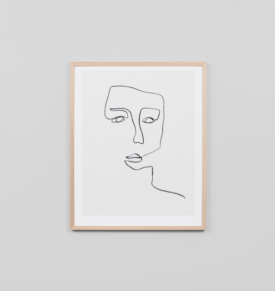 LINEAR PORTRAIT #3 FRAMED ARTWORK