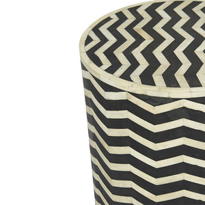 TAJ CHEVRON SIDE TABLE
