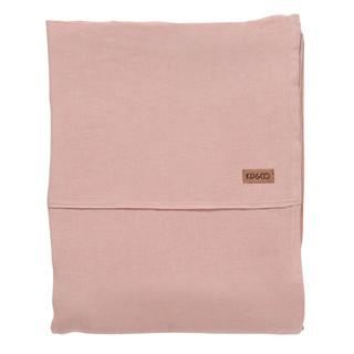 KIP & CO - VEILED ROSE LINEN KING FLAT SHEET