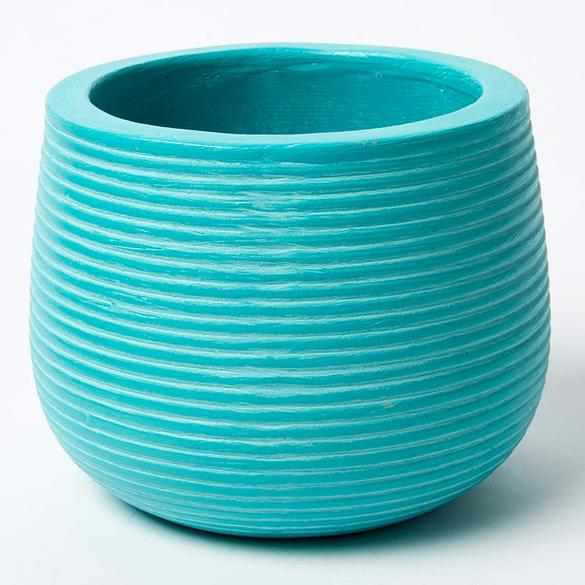 GROOVE POT - TURQUOISE