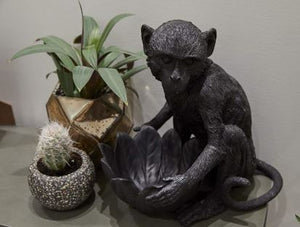 WHITE MOOSE MONKEY BOWL -BLACK