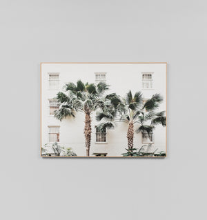 PALM RESORT - FRAMED CANVAS PRINT