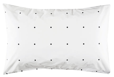 CASTLE -  CHARCOAL PEGBOARD PILLOWCASE