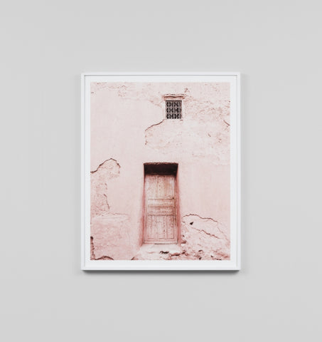 PINK DOOR 1 FRAMED ARTWORK