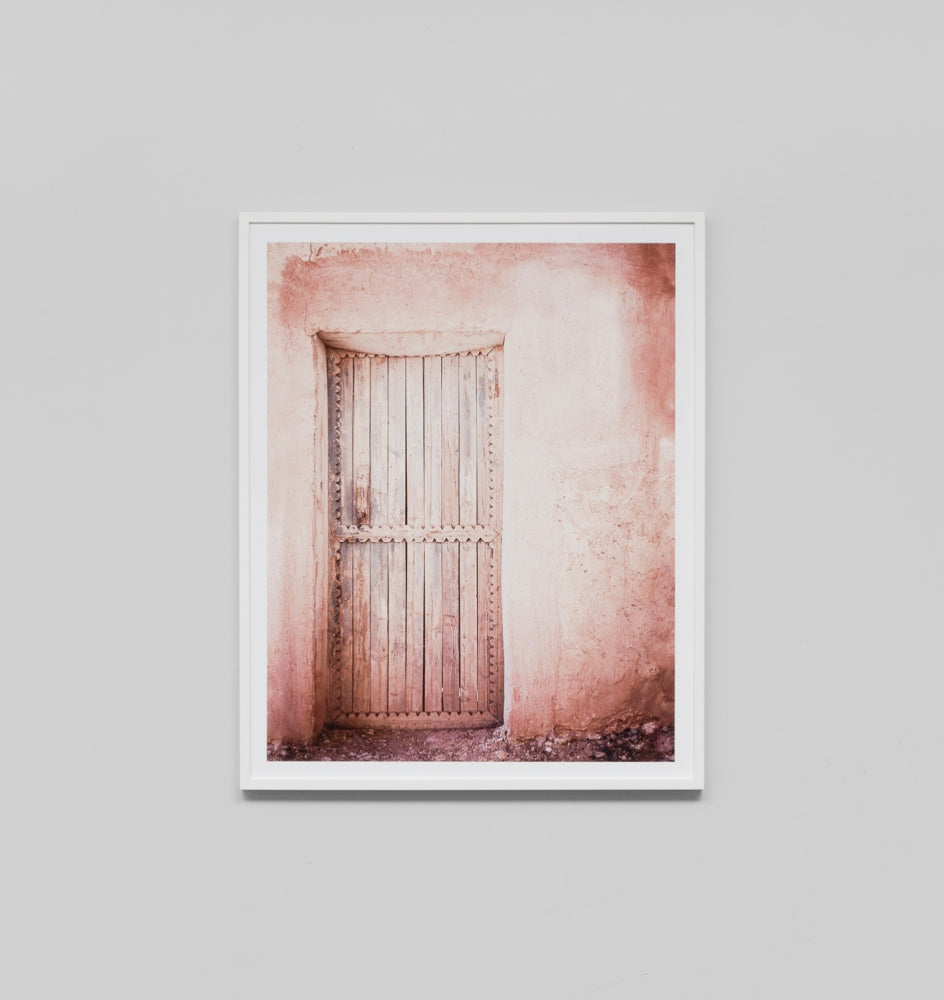 PINK DOOR 3 FRAMED ARTWORK