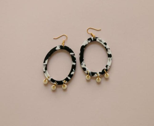 MURPHY MADE POPPY EARRINGS-Monochrome