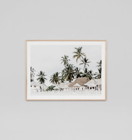 QUIET ISLAND FRAMED ARTWORK