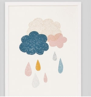 RAIN OR SHINE PAIR FRAMED ARTWORKS