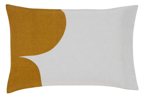 CASTLE - GREY LINEN RUST CLOUD PILLOWCASE
