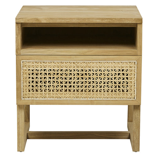 WILLOW WOVEN BEDSIDE TABLE