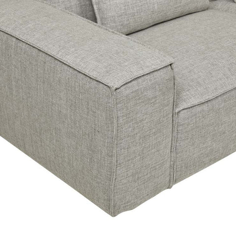 FELIX BLOCK 3 SEATER SOFA - CEMENT